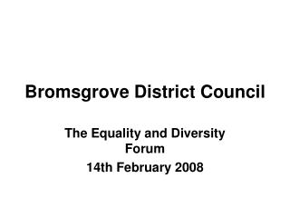 Bromsgrove District Council
