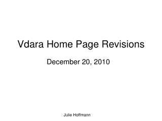 Vdara Home Page Revisions