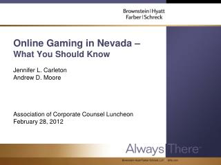 Online Gaming in Nevada –  What You Should Know