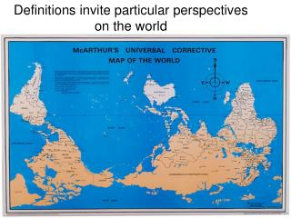 Definitions invite particular perspectives on the world