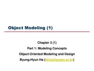 Object Modeling (1)