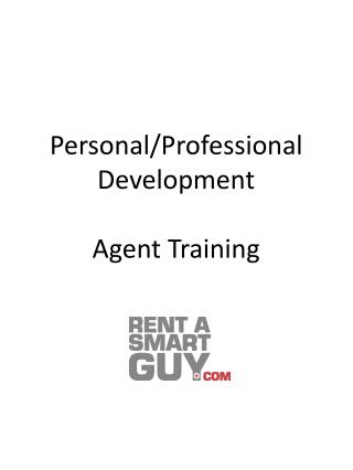Personal/Professional Development Agent Training
