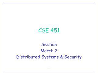 CSE 451