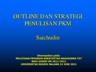 OUTLINE DAN STRATEGI PENULISA N PKM Saichudin