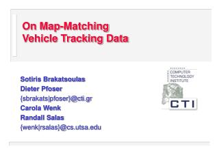 On Map-Matching  Vehicle Tracking Data