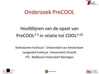 Onderzoek PreCOOL