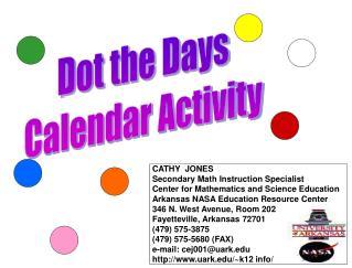 Dot the Days Calendar Activity