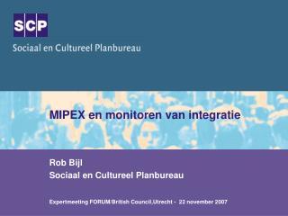 MIPEX en monitoren van integratie