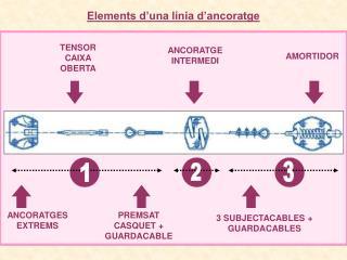 Elements d'una línia d'ancoratge
