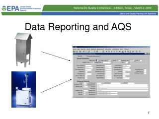 Data Reporting and AQS