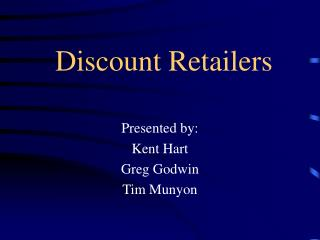 Discount Retailers
