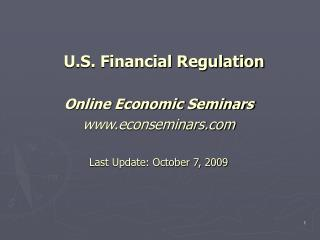 U.S. Financial Regulation