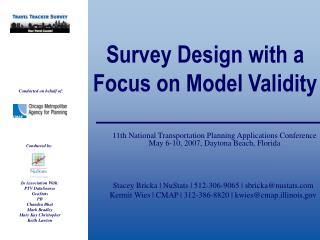 Survey Design with a Focus on Model Validity