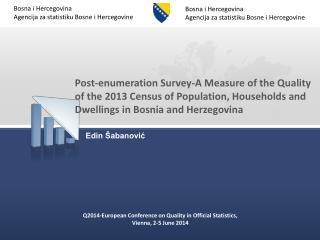 Q2014-European Conference on Quality in Official Statistics, Vienna, 2-5 June 2014
