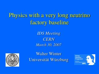 Physics with a very long neutrino factory baseline