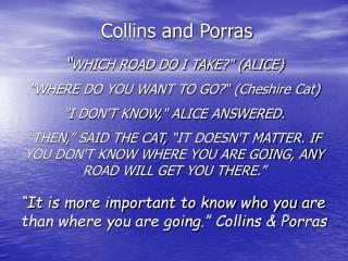 Collins and Porras