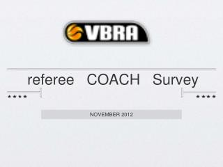 referee   COACH   Survey