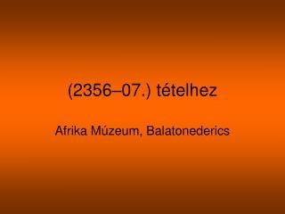 (2356–07.) tételhez