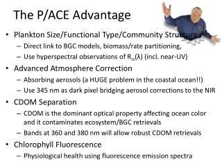 The P/ACE Advantage
