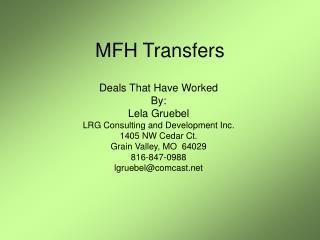 MFH Transfers