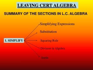 LEAVING CERT ALGEBRA