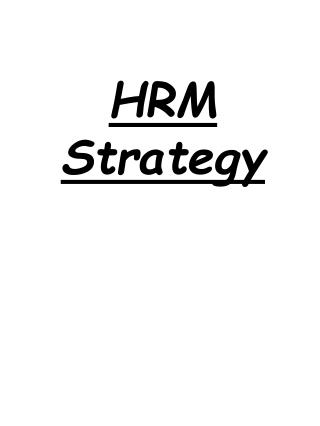 HRM Strategy