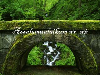 Assalamualaikum wr .  wb