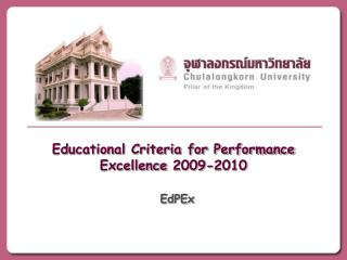 Educational Criteria for Performance Excellence 2009-2010