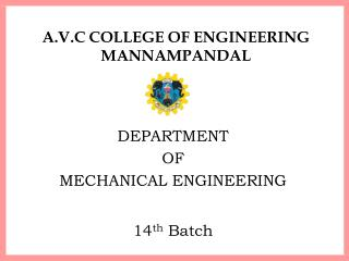 A.V.C COLLEGE OF ENGINEERING MANNAMPANDAL