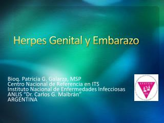 Herpes Genital y Embarazo