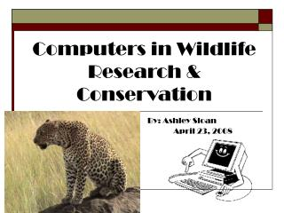 Computers in Wildlife Research & Conservation