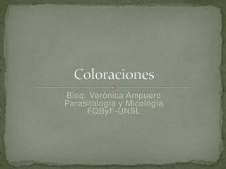 Coloraciones
