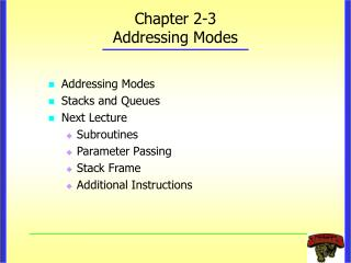 Chapter 2-3 Addressing Modes
