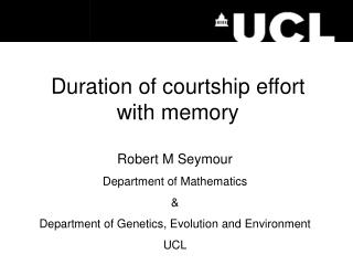Duration of courtship effort with memory