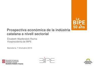 Prospectiva econòmica de la indústria  catalana a nivell sectorial