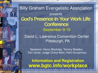 Billy Graham Evangelistic Association presents