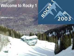 Welcome to Rocky 1