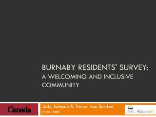 Burnaby Residents' Survey:  A Welcoming and Inclusive Community