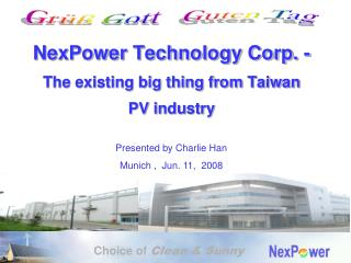 NexPower Technology Corp. - The existing big thing from Taiwan  PV industry
