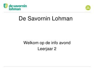De Savornin Lohman