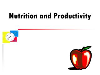 Nutrition and Productivity