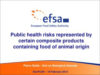Public health risks represented by certain composite products containing food of animal origin