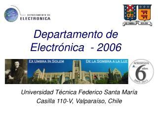 Departamento de Electrónica  - 2006