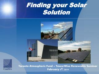 Finding your Solar  Solution