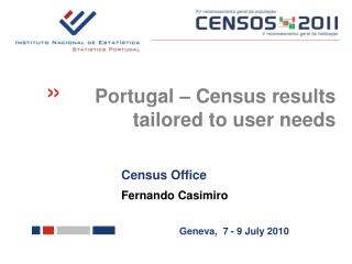 Census Office  Fernando Casimiro