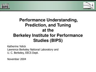 Katherine Yelick Lawrence Berkeley National Laboratory and  U. C. Berkeley, EECS Dept.