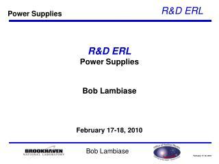 R&D ERL Power Supplies