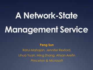 A Network-State Management Service