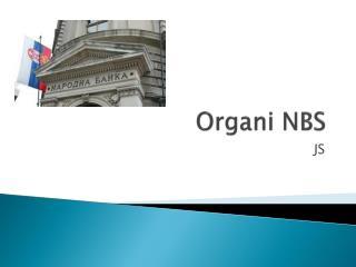 Organi  NBS