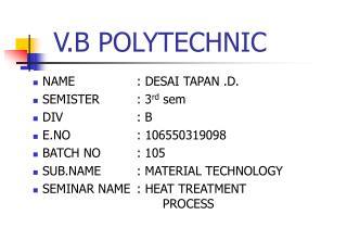 V.B POLYTECHNIC